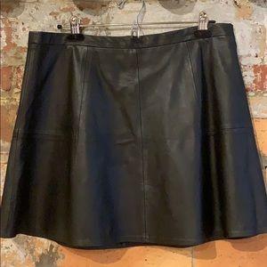 Authentic leather J.Crew miniskirt